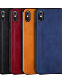 זול מגנים לאייפון-מארז עבור iPhone xs / iPhone xs max shockproof / כיסוי גב dustproof מוצק בצבע קשה מחשב / tpu / עור pu עבור iPhone 7/7 פלוס / 8/6/6 פלוס / xr / x / xs