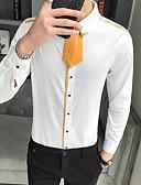billige T-shirts og undertrøjer til herrer-Herre - Ensfarvet Trykt mønster Basale Skjorte Hvid US40 / UK40 / EU48