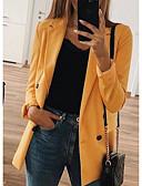 halpa Bleiserit-Naisten Bleiseri, Yhtenäinen V kaula-aukko Polyesteri Musta / Punastuvan vaaleanpunainen / Keltainen XXXL / XXXXL / XXXXXL