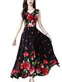 hesapli Print Dresses-Kadın's A Şekilli Elbise - Solid Midi