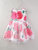 זול שמלות לבנות-שמלה פרחוני בנות ילדים / פעוטות / כותנה