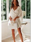 זול שמלות מיני-מעל הברך אחיד - שמלה ישרה בגדי ריקוד נשים