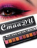 hesapli Göz Farları-Marka cmaadu fırça ile 10 renk göz farı paletleri moda mat inci flaş su geçirmez dayanıklı göz makyaj