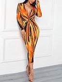 povoljno Print Dresses-Žene Osnovni Korice Haljina Geometrijski oblici Midi
