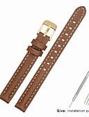 hesapli Deri Saat Bandı-Gerçek Deri / Deri / Buzağı Tüyü Watch Band kayış için Kahverengi Diğer / 17cm / 6.69 inç / 19cm / 7.48 İnç 1cm / 0.39 İnç