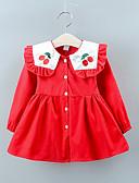זול חולצות לתינוקות-שמלה שרוול ארוך טלאים בנות תִינוֹק