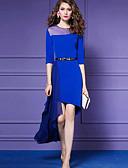 hesapli Mini Elbiseler-Kadın's Kılıf Elbise - Solid Asimetrik