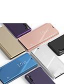 זול מגנים לטלפון-מגן עבור Huawei Huawei Nova 3i / Huawei Note 10 / Huawei Honor 10 עם מעמד / מראה כיסוי מלא אחיד עור PU / PC