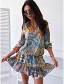 hesapli Mini Elbiseler-Kadın's Temel Kayakçı Elbise - Kamuflaj Rengi, Desen Diz üstü