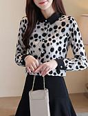 billige Skjorte-Dame - Prikker Skjorte Sort