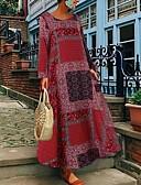 povoljno Ženske haljine-Žene Osnovni A kroj Haljina Geometrijski oblici Maxi