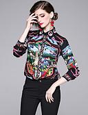 abordables Chemises Femme-Chemise Femme, Graphique / Animal Imprimé Noir