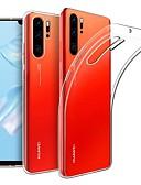 זול מגנים לטלפון-מגן עבור Huawei Huawei P30 Pro אולטרה דק / מזוגג כיסוי אחורי אחיד TPU