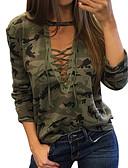 billige T-skjorter til damer-T-skjorte Dame - Kamuflasje, Trykt mønster Grunnleggende Grønn