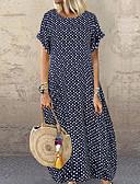 זול שמלות מקסי-מקסי מנוקד - שמלה טישרט בגדי ריקוד נשים