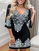 hesapli Mini Elbiseler-Kadın's Bandaj Elbise - Çiçekli Mini