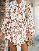 hesapli Kadın Elbiseleri-Kadın's A Şekilli Elbise - Çiçekli Mini