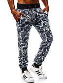 זול טישרטים לגופיות לגברים-בגדי ריקוד גברים בסיסי צ'ינו מכנסיים - פרחוני קוביות הקסם, טלאים קשת US32 / UK32 / EU40 US34 / UK34 / EU42 US36 / UK36 / EU44