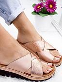 hesapli Tişört-Kadın's Sandaletler Düz Taban Yuvarlak Uçlu Mikrofiber Yaz Siyah / Beyaz / Mor