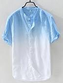 voordelige Herenoverhemden-Heren Overhemd Kleurenblok Licht Blauw