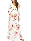 povoljno Haljine-Žene Boho Elegantno A kroj Swing kroj Haljina - Print, Cvjetni print Maxi