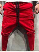 povoljno Muške duge i kratke hlače-Muškarci Osnovni Veličina EU / SAD Chinos Hlače - Jednobojni Klasičan Crn Red Sive boje US32 / UK32 / EU40 US34 / UK34 / EU42 US38 / UK38 / EU46 / Vezica / Elastičnost