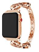זול להקות Smartwatch-צפו בנד ל Apple Watch Series 4/3/2/1 Apple עיצוב תכשיטים מתכת אל חלד רצועת יד לספורט