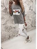 billige T-skjorter til damer-T-skjorte Dame - Tegneserie, Trykt mønster Gatemote Lyseblå