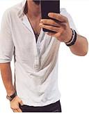 billige T-shirts og undertrøjer til herrer-Herre - Ensfarvet T-shirt Sort
