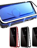 hesapli Cep Telefonu Kılıfları-Pouzdro Uyumluluk Samsung Galaxy Galaxy S10 / Galaxy S10 Plus Manyetik Tam Kaplama Kılıf Solid Temperli Cam
