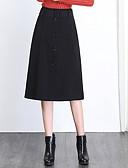 abordables Pantalons Femme-Femme Grandes Tailles Chic & Moderne Crochet Jupes - Couleur Pleine Noir M L XL