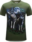 povoljno Muške majice i potkošulje-Majica s rukavima Muškarci Dnevno Životinja Crn