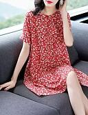 hesapli Print Dresses-Kadın's Sokak Şıklığı Zarif Kombinezon Elbise - Ekose Kar Tanesi Batik, Şalter Fırfırlı Desen Diz üstü Siyah ve Beyaz Vinç Ananas