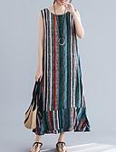 hesapli Mini Elbiseler-Kadın's Kombinezon Elbise - Çizgili Maksi