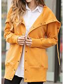 preiswerte Bluse-Damen Alltag Frühling Sommer / Herbst Winter Standard Mantel, Solide Mit Kapuze Langarm Polyester Rosa / Grau / Gelb