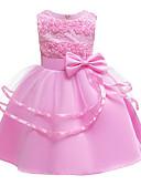povoljno Haljine za djevojčice-Djeca Dijete koje je tek prohodalo Djevojčice Osnovni Slatka Style Jednobojni Cvjetni print Mašna Kolaž Bez rukávů Do koljena Haljina Blushing Pink
