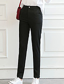 ieftine Tricou-Pentru femei De Bază Legging - Mată, Ruched Talie medie Negru L XL XXL