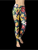 hesapli Gömlek-Kadın's Podstawowy Legging - Desen, Desen Yüksek Bel Gökküşağı L XL XXL / Dar