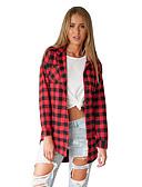 billige T-skjorter til damer-tunika Dame - Rutet Rød