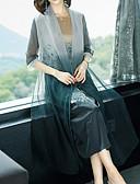 hesapli Büyük Beden Elbiseleri-Kadın's Tişört Elbise - Çiçekli Midi