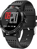 hesapli Akıllı Saatler-Akıllı İzle Dijital Modern Stil Stortif Silikon 30 m Su Resisdansı Kalp Ritmi Monitörü Bluetooth Dijital Günlük Dış Mekan - Siyah Kırmzı