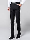 hesapli Pantolonlar-Erkek Temel Takım Elbise Pantolon - Solid Klasik Siyah Şarap Beyaz US32 / UK32 / EU40 US34 / UK34 / EU42 US36 / UK36 / EU44