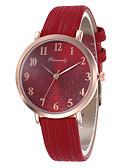 hesapli Kadın Dijital Saatleri-Kadın's Dijital saat Moda Renkli Siyah Kırmızı Gri PU Deri Çince Quartz Siyah Beyaz Doğal Pembe Gündelik Saatler Çok güzel 30 m 1 parça Analog Bir yıl Pil Ömrü