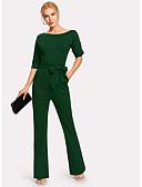 povoljno Ženski jednodijelni kostimi-Žene Djetelina Jumpsuits, Jednobojni S M L