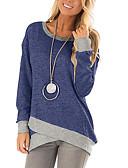 abordables Chemisiers Femme-Tee-shirt Femme, Couleur Pleine / Bloc de Couleur Vin