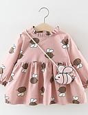 זול שמלות לתינוקות-שמלה שרוול ארוך דפוס בנות תִינוֹק
