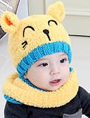 זול ילדים כובעים ומצחיות-מידה אחת ורוד מסמיק / צהוב / אודם כובעים ומצחיות כותנה / סריג רומי מסוגנן / סריגה חיה / אנימציה פעיל / בסיסי / מתוק בנים / בנות ילדים / פעוטות