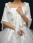 זול שמלות מקסי-ללא שרוולים דמוי פרווה / אקריליק חתונה / מסיבה\אירוע ערב כיסויי גוף לנשים עם פרנזים גלימות
