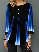 povoljno Majica-Bluza Žene - Osnovni Dnevno Color block Crn