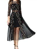 お買い得  レディースドレス-女性用 スウィング ドレス 幾何学模様 ミディ